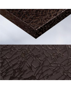 CHOCOLATE CRACKLED FABRIC