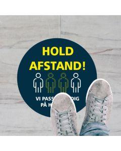HOLD AFSTAND GULV KLISTERMÆRKE, 20 CM RUND