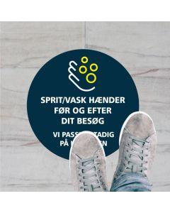 SPRIT/VASK HÆNDER KLISTERMÆRKE, 40 CM RUND