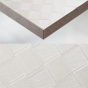 WHITE SQUARED LEATHER